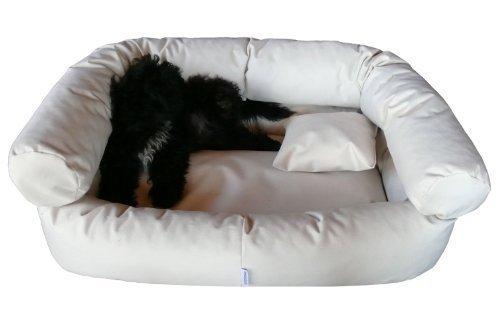 Artikelbild: tierlando® Hundebett Paula Hundesofa Hundebett 120cm Beige Creme Anti-Haar Polyester