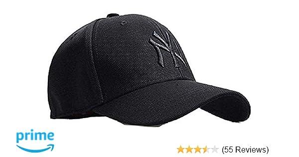 f913a7670cb06 MoohMaya Men s Cotton Sports Cap(Black)  Amazon.in  Clothing   Accessories
