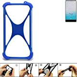K-S-Trade Bumper Ulefone F1 Silikon Schutz Hülle Handyhülle Silikoncase Softcase Cover Case Stoßschutz, blau (1x)
