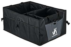Premium Kofferraumtasche 2-in-1 faltbar – Stabiler und faltbarer Kofferraum-Organizer 53x38x25– Autobox aus hochwertigem Oxford-Polyester