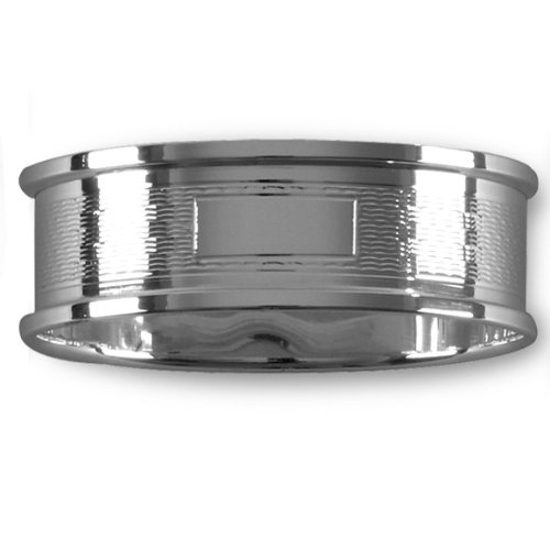 Sterling Silver Oval Napkin Ring, beautifully crafted in England for Baby Christening Gift- Hallmarked (925) in presentation case. A gift to be treasured.