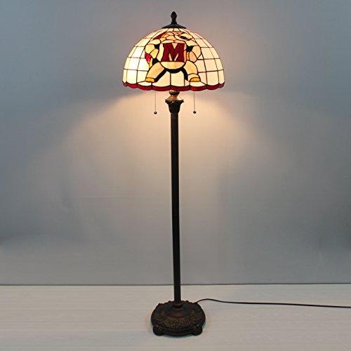 16-Zoll-NCAA Maryland Terrapins Glasmalerei Stehlampe