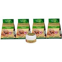 Vaadi Herbals Value Foot Cream, Clove and Sandal Oil, 30gmsx4