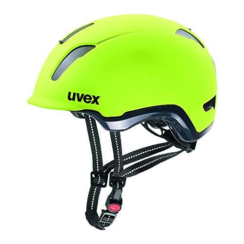 Uvex City 9 Fahrradhelm, Unisex, Erwachsene, Unisex-Erwachsene, 4109710217, neon gelb, (58-61)