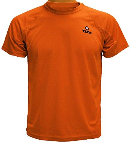 Izas Creus - Camiseta de running para hombre, color naranja, talla XL
