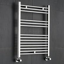 REBAJAS - Radiador Toallero Diseño Plano Para Baño / Cocina / Escaleras - Acero Cromo - 800 x 600 mm - 270 Vatios - Calentador Toallas Decorativo - 14 ...