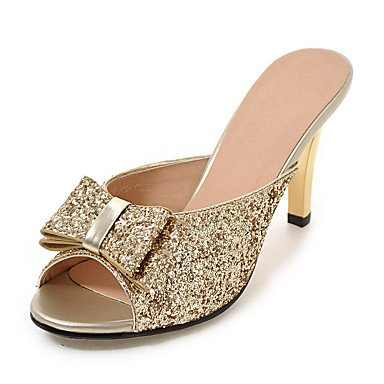 flip HeelGold argento sandali zhENfu bianco casual pantofole Stiletto Slingback Sequin Autunno amp; arrossendo nero Abito flops sintetico donna Gold Estate qyS1B6Stg