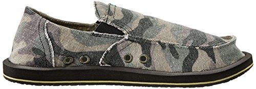 Sanuk Pick Pocket 29418012 Herren Slipper Grün (Camouflage)