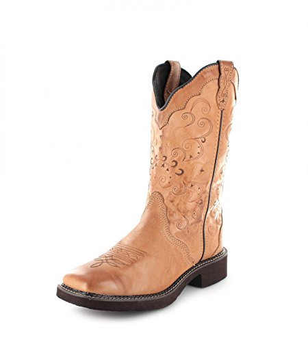 Justin Boots Stiefel L2907 Braun Damen Westernreitstiefel (Damen Justin Boots)