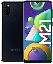 Samsung Galaxy M21 Android Smartphone ohne Vertrag, 3 Kameras, großer 6.000 mAh Akku, 6,4 Zoll Super AMOLED Di