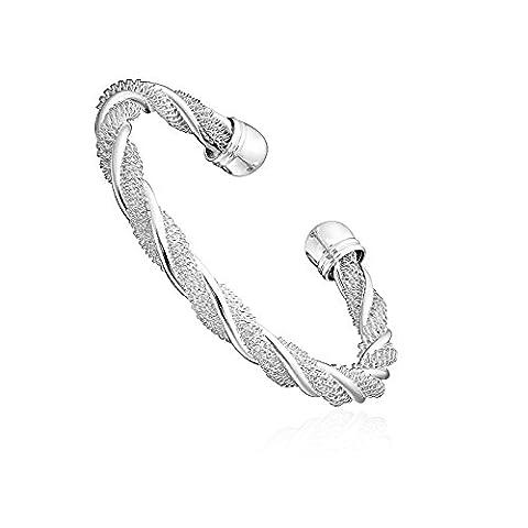 Bracelet Femme Fashionvictime - Bijou Argent Plaqué Rhodium -