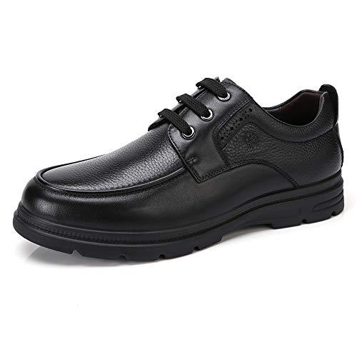 CAMEL CROWN Anzugschuhe Herren, Oxford Leder Schuhe Business Schuhe Männer Klassischer Bootsschuhe mit Gummisohle, Schwarz 41 EU