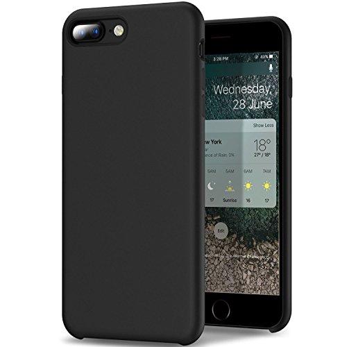 Teryei Funda iPhone 7/7 Plus, Silicona Suave Case Full protección Anti-Golpes Rasguño y Resistente [Ultra Slim ] Anti-Estático Choque Bumper pour iPhone 7/7 Plus (Negro, iPhone 7 Plus)
