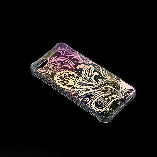 WE LOVE CASE Coque pour iPhone 5 / 5s / SE Étui, Motif Coque en Plastique Dur PC Étui Hard Case Ultra Mince Housse de Protection Bumper Shell Back Cover Cas Couverture Anti-rayure Antichoc - Design Ho Mandala
