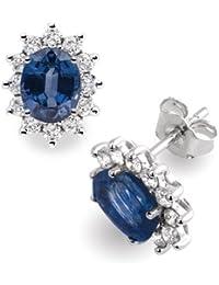 Diamond Manufacturers - Boucles d'Oreilles Femme avec 24 diamanten - Or blanc 750/1000 (18 cts)
