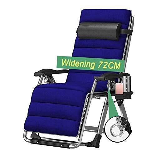 XXINZWU Klappbare Liege Strandkorb Verstellbarer Schwerelosigkeitsstuhl Erwachsener Balkon Siesta Stuhl Einzelner Sommer Fauler Cooler Stuhl Alter Mann Ruhesessel