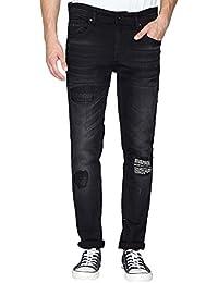 Being Human Mens 5 Pocket Skinny Fit Mild Wash Jeans