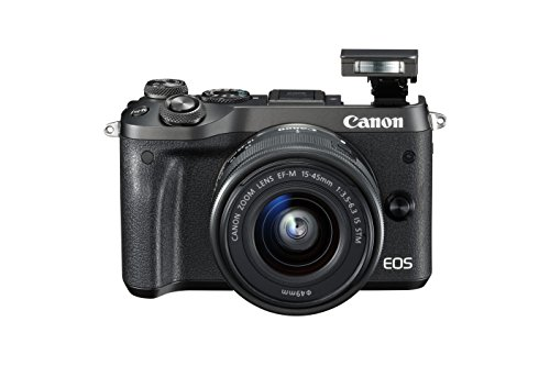 Canon M6 Mirrorless Camera with EF-M 15-45 mm Lens - Black