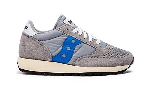Saucony Jazz Original Vintage, Zapatillas para Mujer, Gris (Grey/Blue), 40 EU