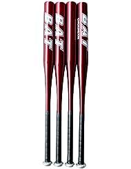 V-SOL Bate de Béisbol de Aleación de Aluminio para Unisex 25 Pulgada Rojo