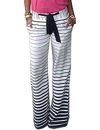 Damen Jersey-Jogginghose mit Bindebändern im Sport-Stil Sporthose Basic  Slim Jogger · EUR 13,02. 5 von 5 Sternen 1 · Herbst Winter Frauen Gestreift  Pants ... 7b6b01d369