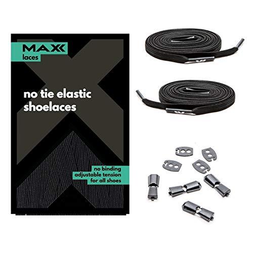 MAXXLACES - Cordones elásticos y planos