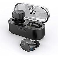 Auriculares Bluetooth, SAVFY Mini True Bluetooth Auriculares Inalámbricos, Auriculares Con Cancelación de Ruido Sweatproof Con Micrófono y 300mAH Funda de Carga Portátil Para Andriod/iOS (Negro)