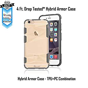 BEZZIE Shock Absorbing TPU Bumper Reinforced Corner Design Frosted Back Protective Case for Apple iPhone 6S/6 (Grey)