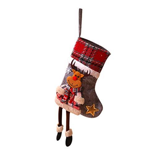 Calze Natalizie, Longra Calze Di Natale Con Cartoni Animati Calze Regalo Decorazione Festa Di Natale Borsa Regalo Candy Ornamenti Per Alberi Di Natale Decorazioni