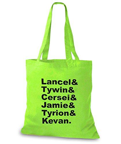 Stylobags Jutebeutel / Tasche Lancel & Tywin & Cersei E Jamie & Tyrion & Kevan Lime