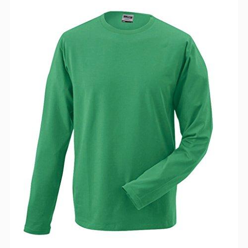 JAMES & NICHOLSON Elegante Shirts mit Elasthan Green