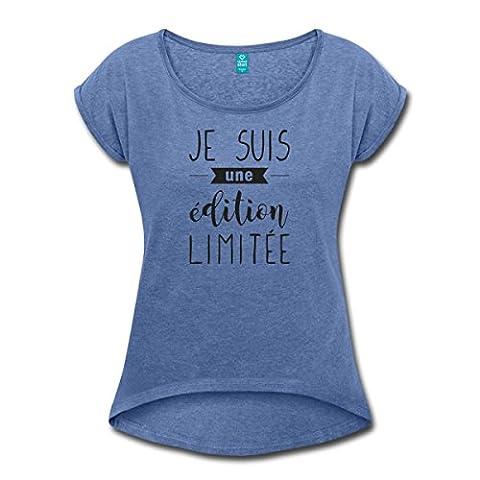 Je Suis Une Édition Limitée T-shirt Femme à manches retroussées
