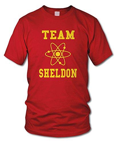 shirtloge - TEAM SHELDON - KULT - Fun T-Shirt - in verschiedenen Farben - Größe S - XXL Rot