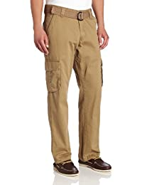 Lee Men's Relaxed Fit Utility Belted Cargo Pants, Barley, 40W x 30L