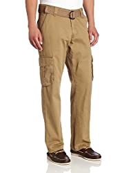 Lee Mens Relaxed Fit Utility Belted Cargo Pants, Barley, 34W x 34L