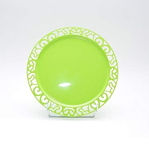 Adiserve 4 sous-Assiettes Ronde Vert anis 30 cm