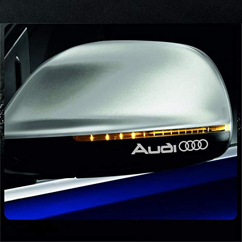 CVANU Car-Styling Car Stcker for 4-x-Audi-Rings-Retro-Mirror-Decal-Sticker
