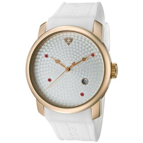 Swiss Legend SL-20028-RG02SWHT - Reloj analógico de cuarzo para hombre, correa de silicona color blanco