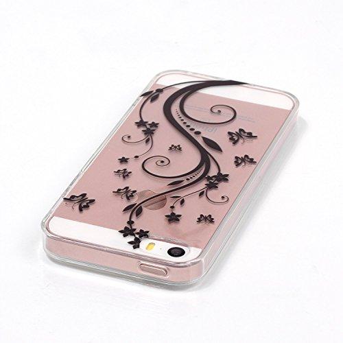 Voguecase® für Apple iPhone 7 hülle, Schutzhülle / Case / Cover / Hülle / TPU Gel Skin (coole Affe) + Gratis Universal Eingabestift Schmetterling liebt Blumen 01
