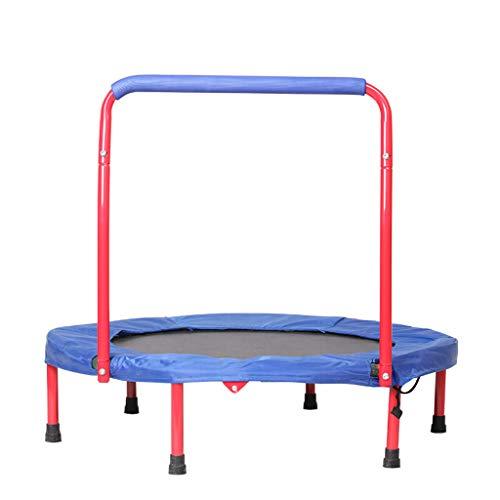 Lxn 36-Zoll-Falt-Trampolin für Kinder mit Griffstange | Ruhiger und sicherer Absprung | Unterstützt bis zu 110 Pfund