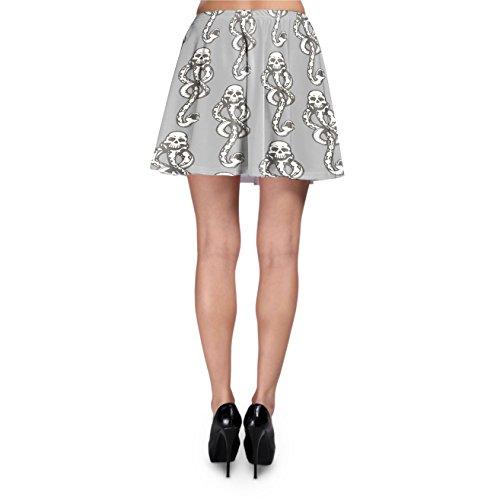Dark Mark Skater Skirt Rock XS-3XL Grey