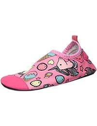 L-RUN Kids Unisex Swim Water Shoes Quick-Dry Aqua Socks Shoes for Pool Surfing Yoga Beach