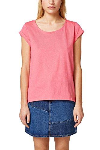 ESPRIT Damen T-Shirt 028EE1K013, Rosa (Pink 3 672), Small