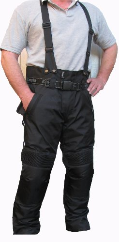 Bangla Motorrad Hose Cordura Schwarz Motorradhose mit Hosenträger 5 XL