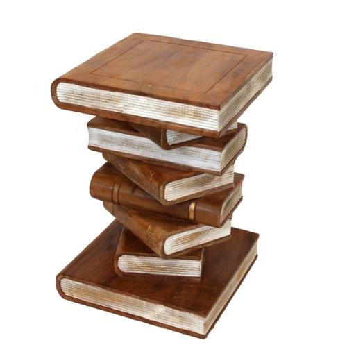 empilé livres ornementales table - Large