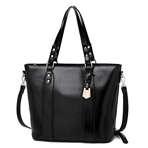 Cawmixy Umhängetaschen und Handtaschen für Damen, Schultertasche, Clutches für Damen, Schwarz (Fashion Black), Large -