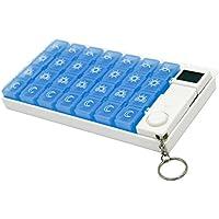 ounona Pille Halter Fall tragbar 7Tage 28Fächer Vitamin Medizin Box Organizer Container Mit 5Gruppen, blau preisvergleich bei billige-tabletten.eu