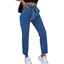 bbad50d32c jeans donna strappati larghi - Amazon.it