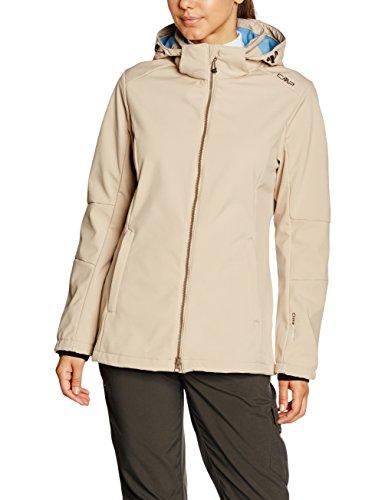 CMP Damen Jacket Softshell Jacke, Beige(Sand/Niagara)42 Beige Damen-jacke