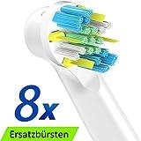 FlossAction Cabezal de Recambio Para Oral-B Cepillo de Dientes Eléctrico, Floss Action cabezales para cepillos 8 Unidades de ITECHNIK